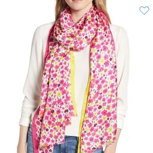 Kate Spade Marker Floral Silk Scarf New